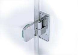 TOPLIFT Beschlag Glas-Glas (Ansicht außen, flächenbündig)
