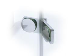 TOPLIFT Beschlag Glas-Glas 135° (Ansicht innen, flächenbündig)