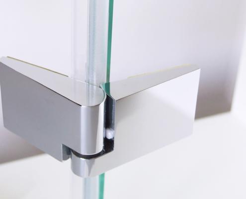 TOPECO Beschlag Glas-Glas (Ansicht außen, flächenbündig)
