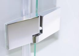 TOPECO Beschlag Glas-Glas (Ansicht außen, Liftfunktion flächenbündig)