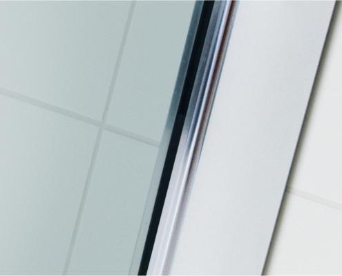 TOPVARIO Abdeckprofil Glas-Wand (Ansicht außen)