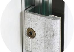 TOPVARIO Klemmprofil Glas-Wand (Detailansicht)